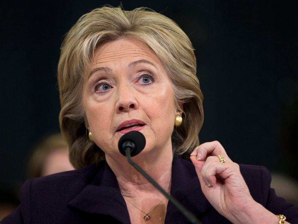 PHOTO: Democratic presidential candidate Hillary Clinton testifies on Capitol Hill in Washington, Oct. 22, 2015, before the House Benghazi Committee.
