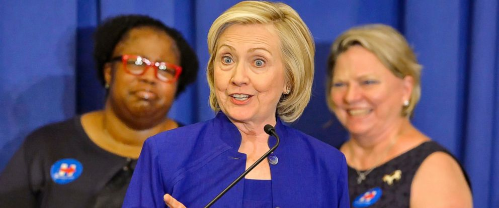 PHOTO: Democratic presidential candidate, former Secretary of State Hillary Rodham Clinton speaks to South Carolina House Democratic Womens Caucus and Womens Council, May 27, 2015, in Columbia, S.C.