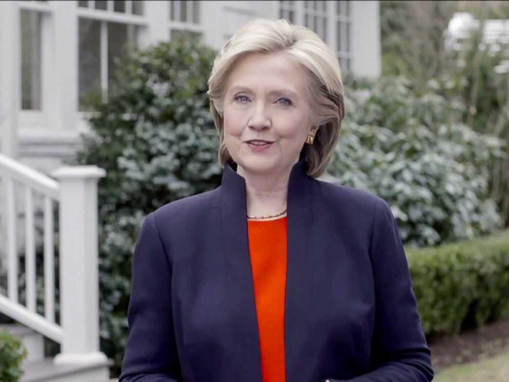 PHOTO: Video grab of Hillary Rodham Clinton announcing that she would seek the presidency for a second time in Washington, April 12, 2015.