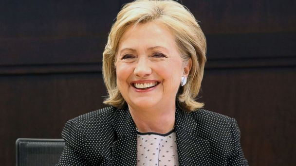 """PHOTO: Former Secretary of State Hillary Rodham Clinton smiles as she signs copies of her new book """"Hard Choices,"""" at The Grove in Los Angeles, Calif., June 19, 2014."""