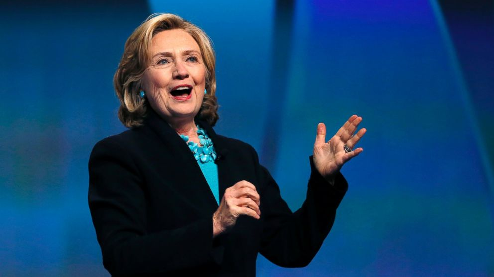 hillary clinton running for president in 2016 as a champion for