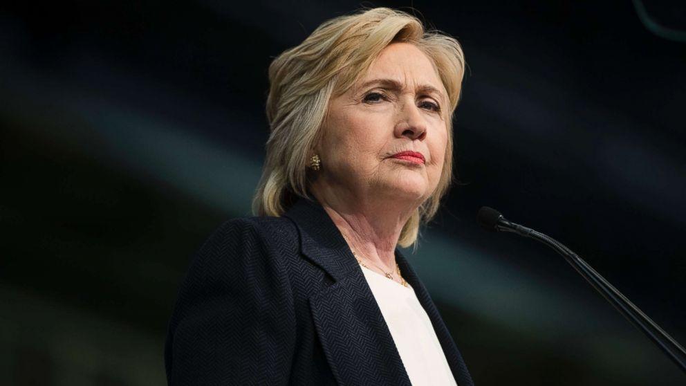 Democratic presidential candidate Hillary Clinton speaks in Philadelphia, July 8, 2016.
