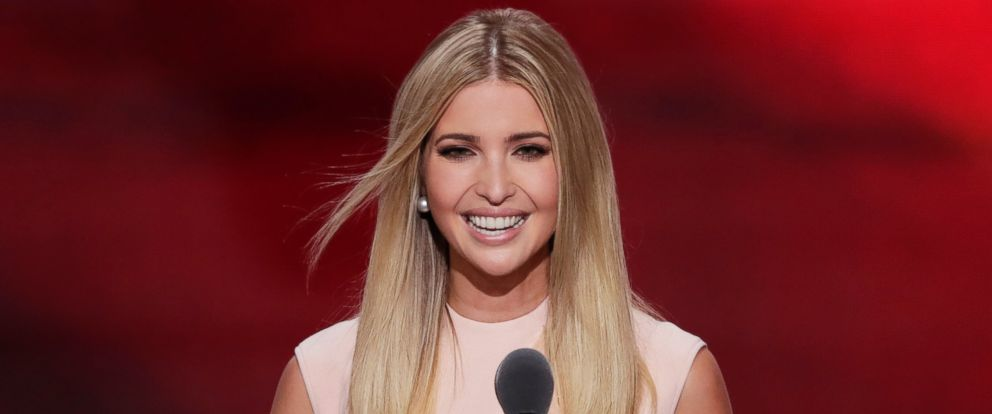 PHOTO: Ivanka Trump, daughter of Republican Presidential Nominee Donald J. Trump, speaks during the final day of the Republican National Convention in Cleveland, July 21, 2016.