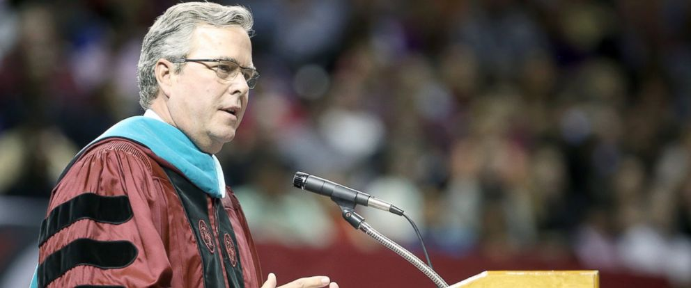 PHOTO: Former Florida Gov. Jeb Bush speaks at commencement exercises for The University of South Carolina in Columbia, S.C., Dec. 15, 2014.