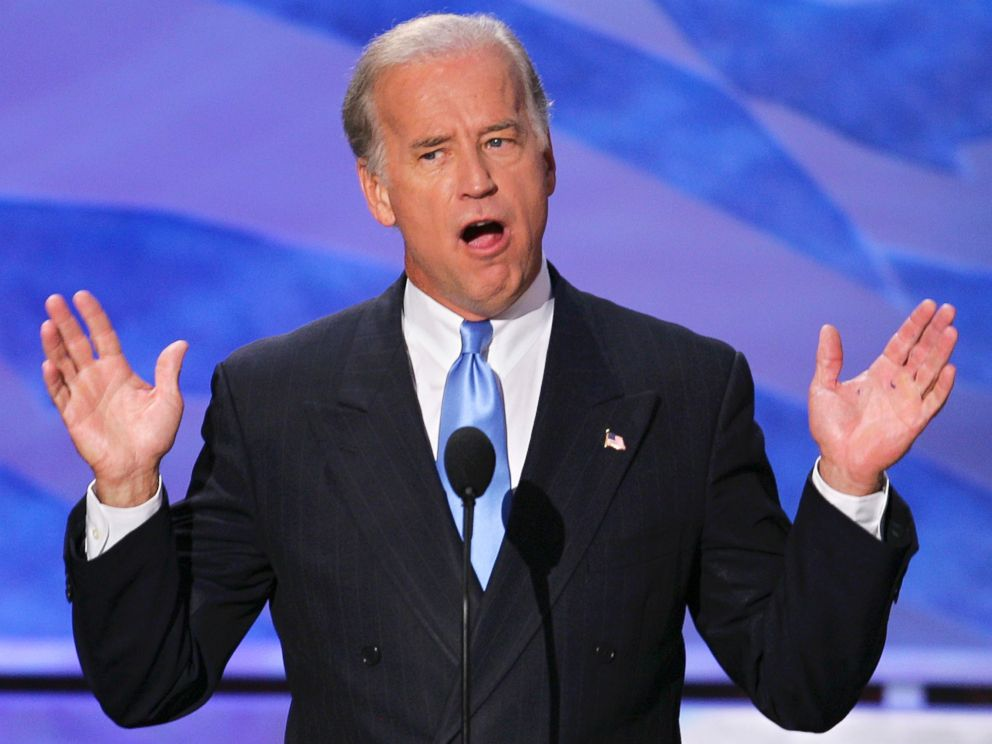 PHOTO: Sen. Joseph Biden, D-Del., addresses the delegates at the Democratic National Convention in Boston, July 29, 2004.