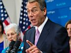 PHOTO: House Speaker John Boehner of Ohio, joined by members of the Republican Caucus, speaks during a news conference on Capitol Hill in Washington, Oct. 4, 2013.