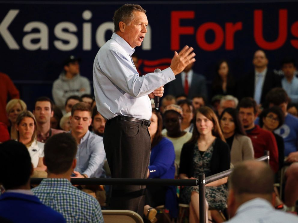 Republican presidential candidate, Ohio Gov. John Kasich speaks during a town hall at Penn State Brandywine Campus, April 21, 2016, in Media, Pennsylvania.