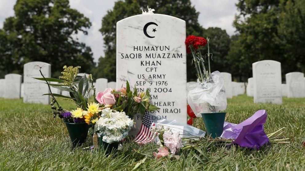 Image result for khan grave arlington