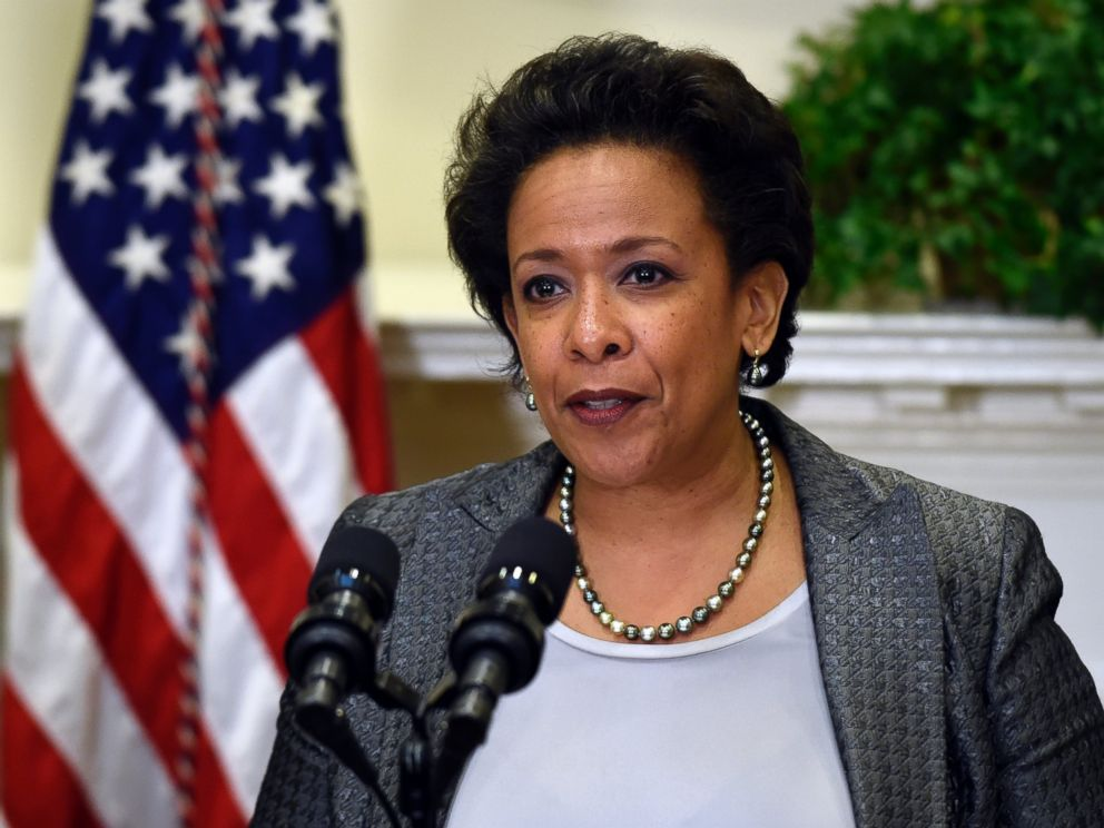 PHOTO: U.S. Attorney Loretta Lynch speaks in the Roosevelt Room of the White House in Washington, Nov. 8, 2014, after President Barack Obama nominated her to be the next Attorney General succeeding Eric Holder.