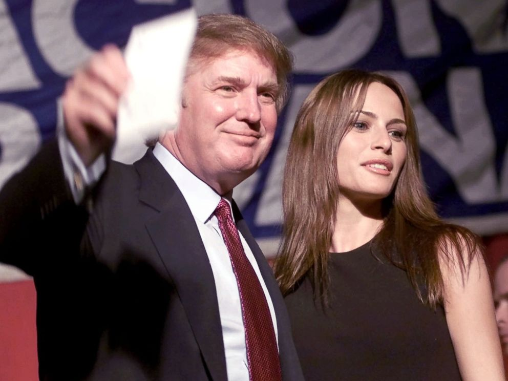 PHOTO: Donald Trump and model Melania Knauss, wave to a crowd, Nov. 15, 1999, during an event sponsored by the Cuban American National Foundation, in West Miami, Florida.