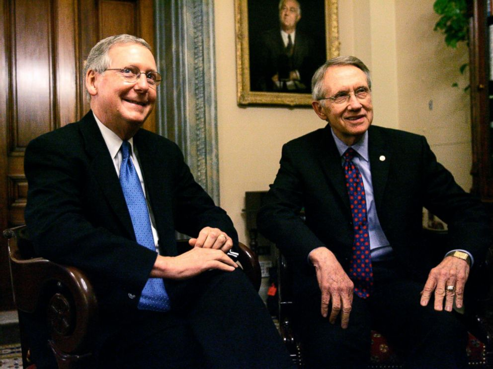 PHOTO: Senate majority leader Harry Reid and Senate minority leader Mitch McConnell