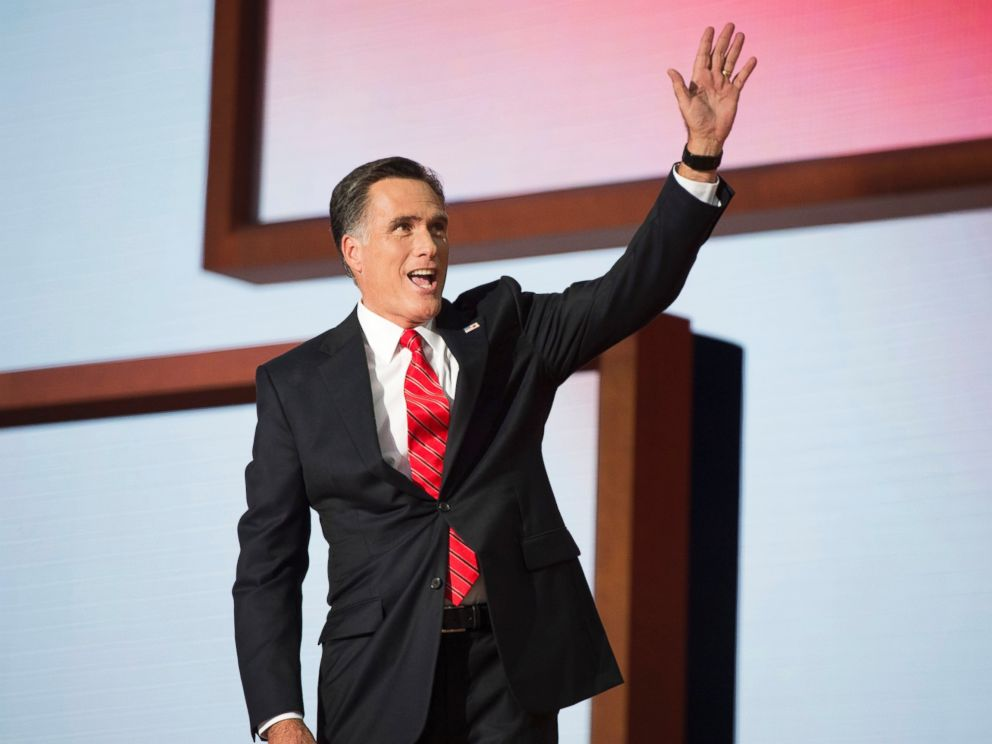 PHOTO: Mitt Romney addresses the Republican National Convention in the Tampa Bay Times Forum, Aug. 30, 2012, in Tampa, Fla.