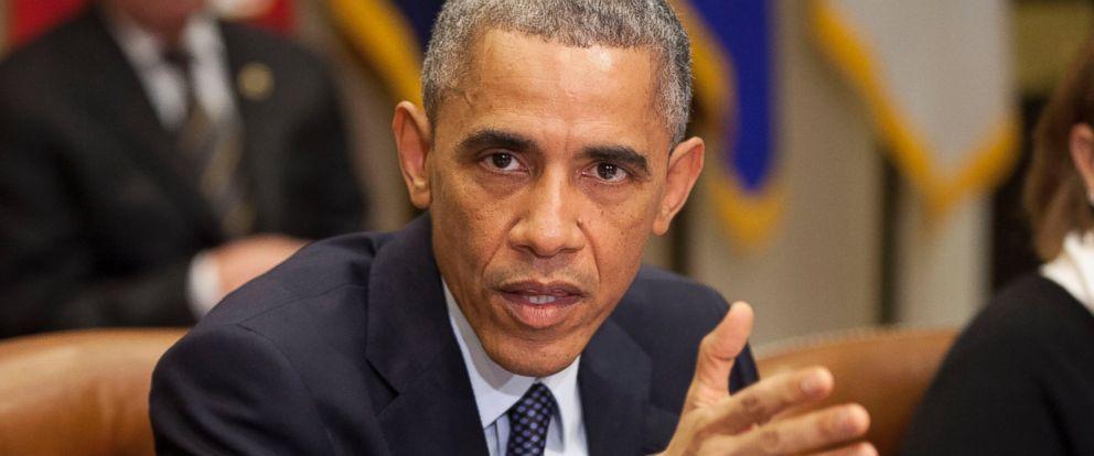 PHOTO: President Barack Obama speaks in the Roosevelt Room of the White House in Washington, Nov. 18, 2014.
