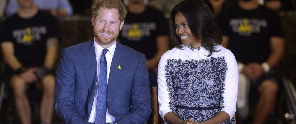 PHOTO:First Lady Michelle Obama and HRH Prince Harry attend an event in celebration of the upcoming Invictus Games in Fort Belvoir, Oct.28, 2015, in Virginia.