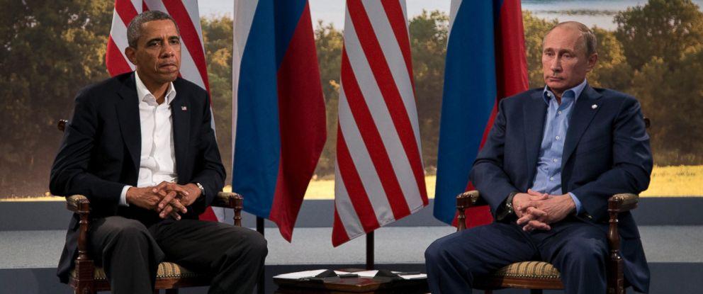 PHOTO: President Barack Obama meets with Russian President Vladimir Putin in Enniskillen, Northern Ireland, June 17, 2013.