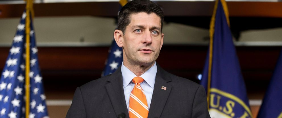 PHOTO: House Speaker Paul Ryan of Wis., gestures during his news conference on Capitol Hill in Washington.