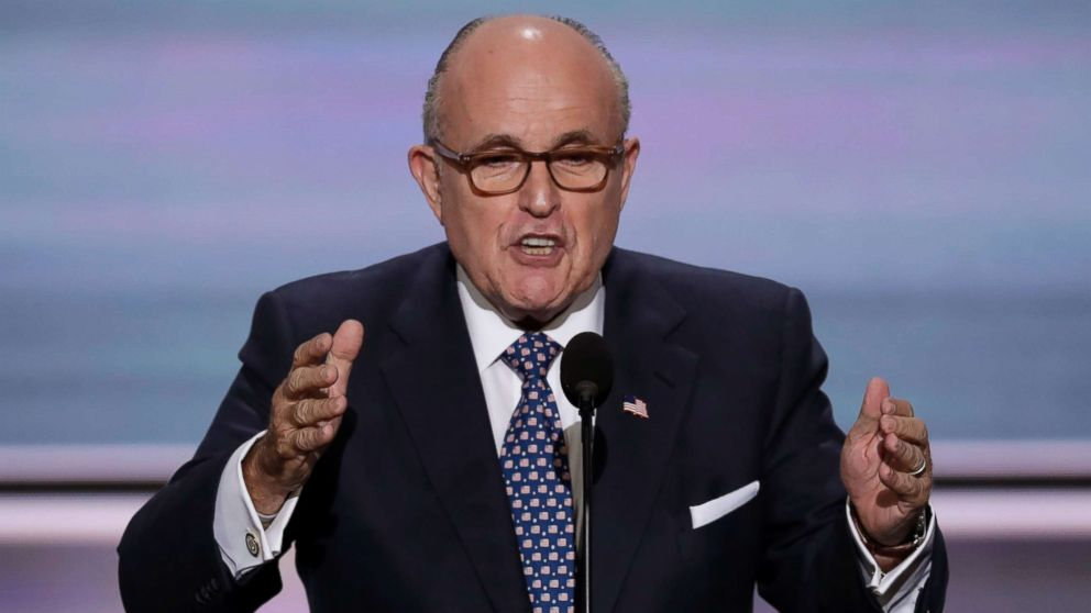 Former New York Mayor Rudy Giuliani speaks during the opening day of the Republican National Convention in Cleveland, July 18, 2016.