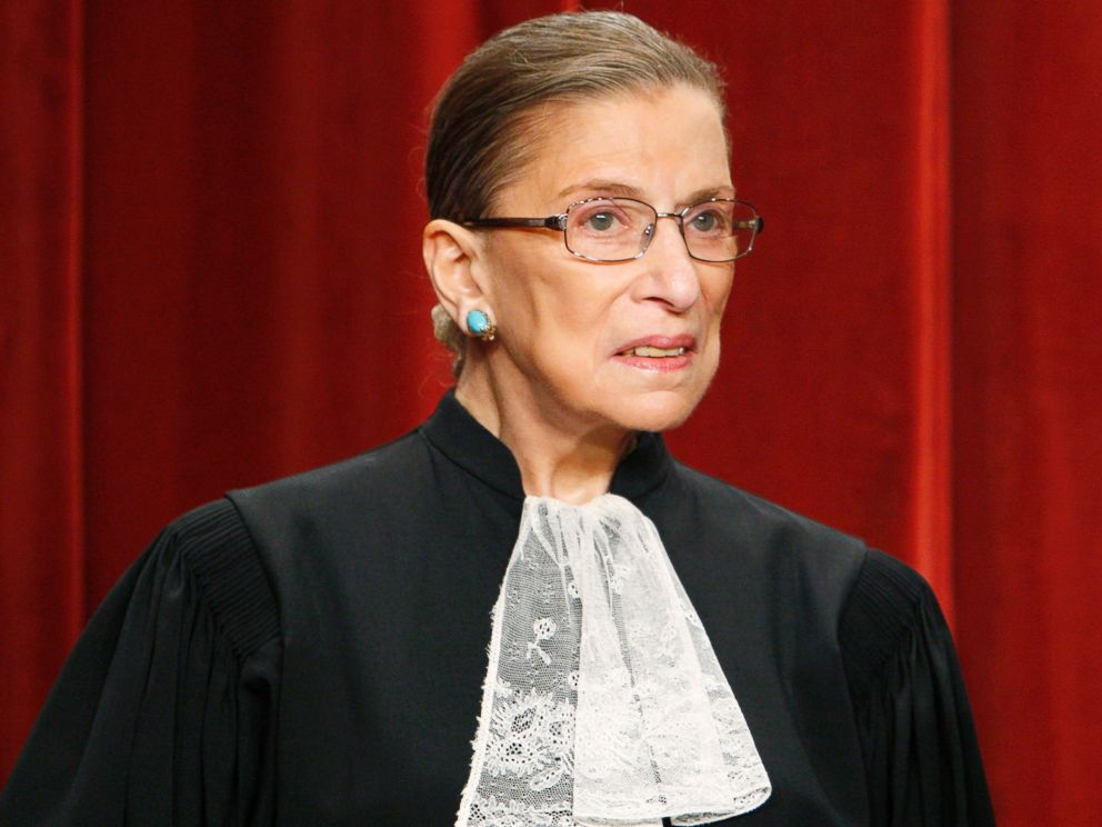 PHOTO: Supreme Court Justice Ruth Bader Ginsburg poses with other Supreme Court judges for a new group photograph at the Supreme Court in Washington, Sept. 29, 2009.