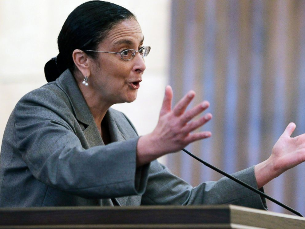 PHOTO: Shanta Driver, an attorney with the Coalition to Defend Affirmative Action, addresses the U.S. 9th Circuit Court of Appeals, in San Francisco, Feb. 13, 2012.