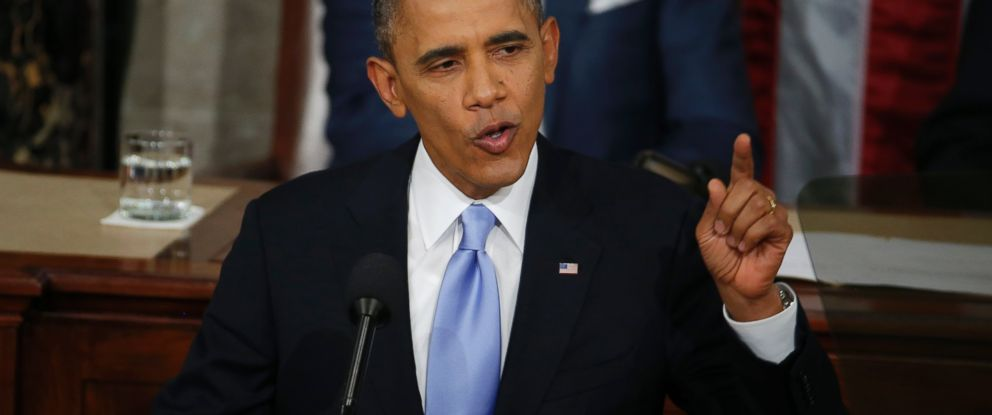 PHOTO: President Barack Obama gives his State of the Union address on Capitol Hill in Washington, Jan. 28, 2014.