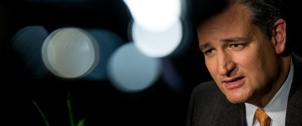 PHOTO: Republican presidential candidate Sen. Ted Cruz, speaks during an interview with the Associated Press in Washington, Dec. 1, 2015.