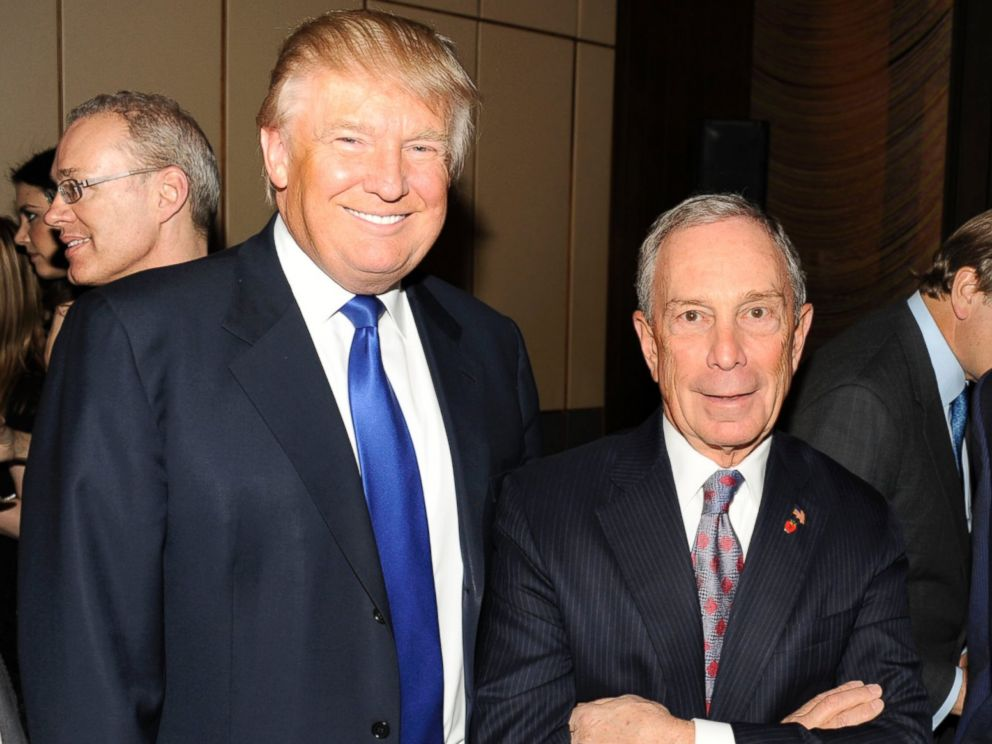 PHOTO: Donald Trump and Michael Bloomberg at The New York Observer 25th Anniversary at The Four Seasons Restaurant, New York, March 14, 2013.