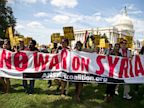 PHOTO: Protesters against U.S. military action in Syria march to Capitol Hill in Washington