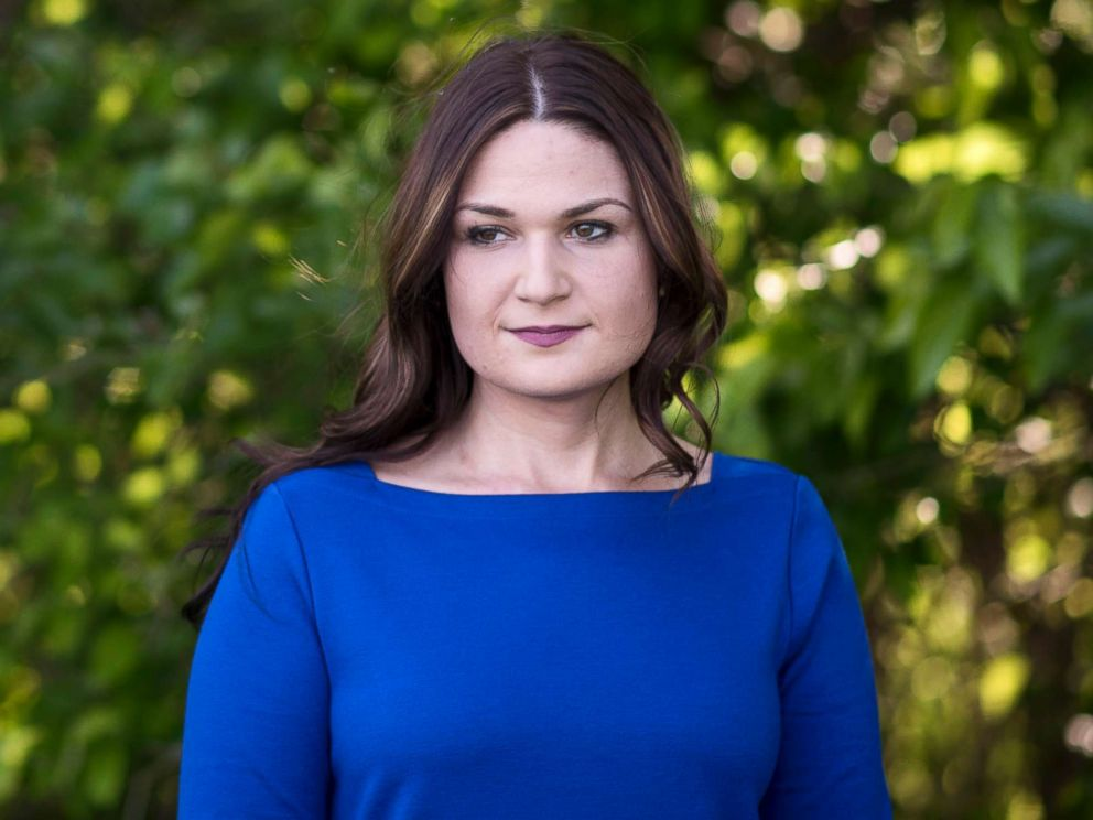 PHOTO: Democratic candidate Abby Finkenauer stands for a portrait in Dubuque, Iowa on June 4, 2018.