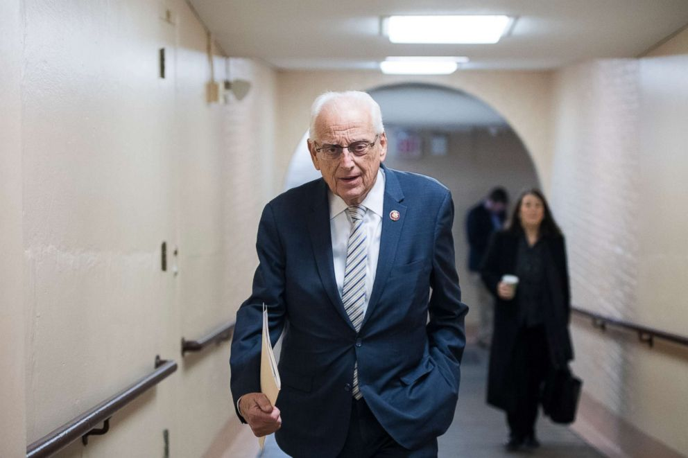 Rep. Bill Pascrell, D-N.J., leaves the House Democrats' caucus meeting in the Capitol, Jan. 4, 2019.