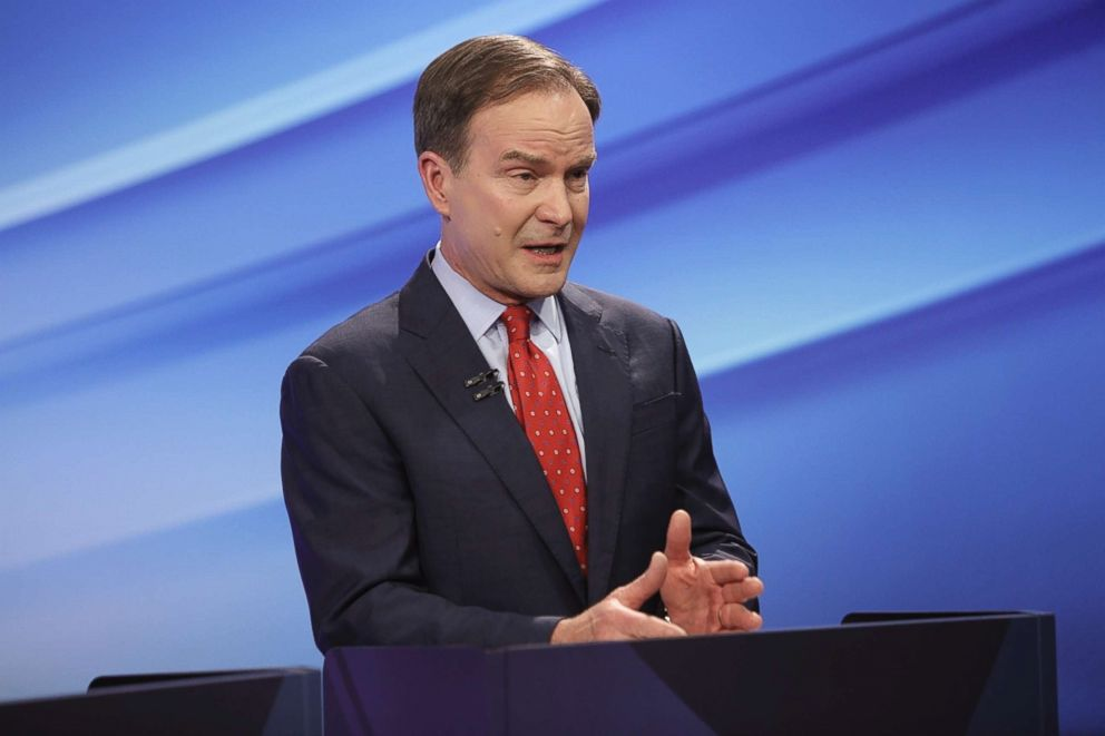 PHOTO: Attorney General Bill Schuette is seen during the GOPs first debate, May 9, 2018 in Grand Raids, Mich.