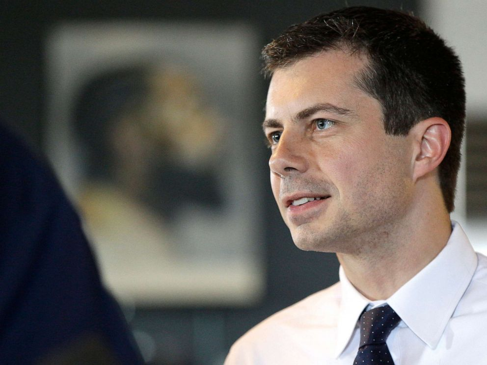 PHOTO: Democratic presidential candidate and South Bend, Ind., Mayor Pete Buttigieg tours Vetcor90, the workspace created by late Nipsey Hussle, in Los Angeles, July 25, 2019.