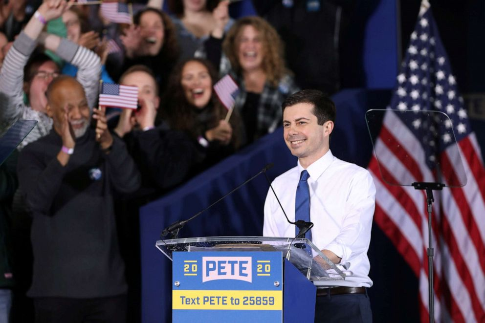 South Bends Mayor Pete Buttigieg speaks during a rally to announce his 2020 Democratic presidential candidacy in South Bend, Ind., April 14, 2019.