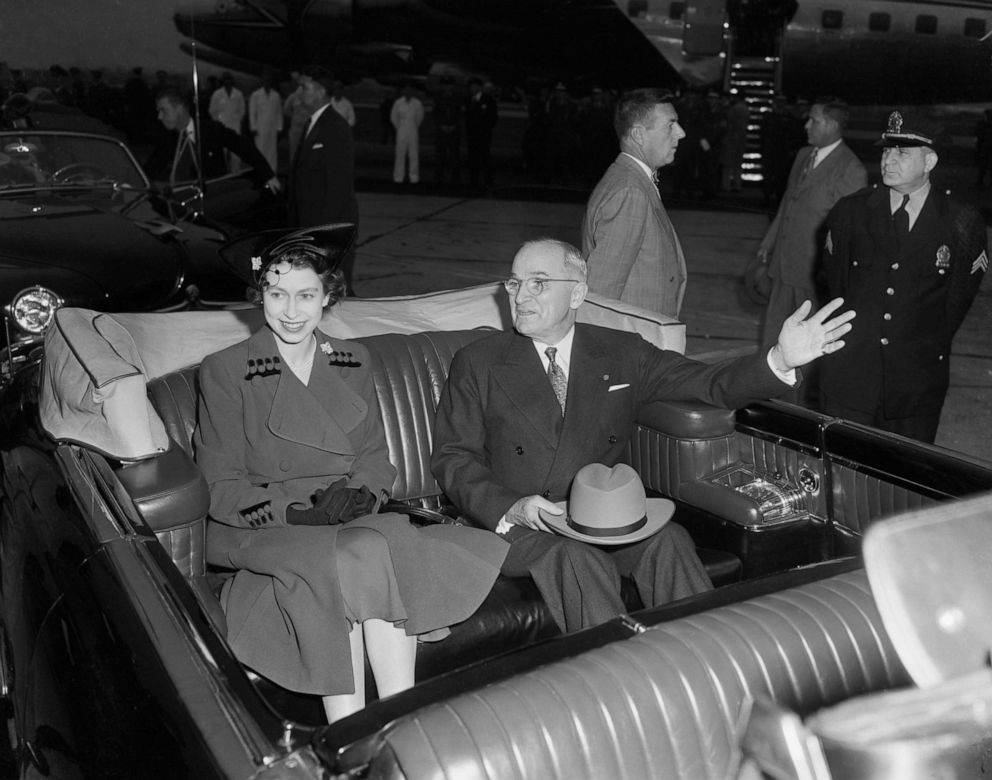 PHOTO:President Harry S. Truman and Britains Princess Elizabeth after the reception ceremony, Oct. 31, 1951, in Washington D.C.