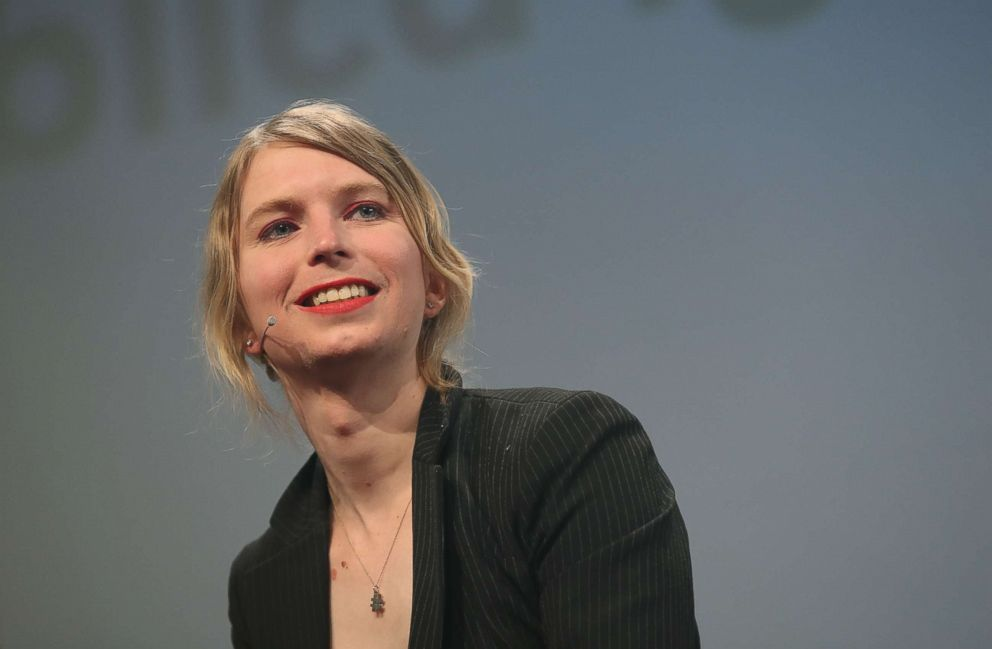 PHOTO: Whistleblower and activist Chelsea Manning, speaks at the annual re:publica conferences on their opening day on May 2, 2018 in Berlin.