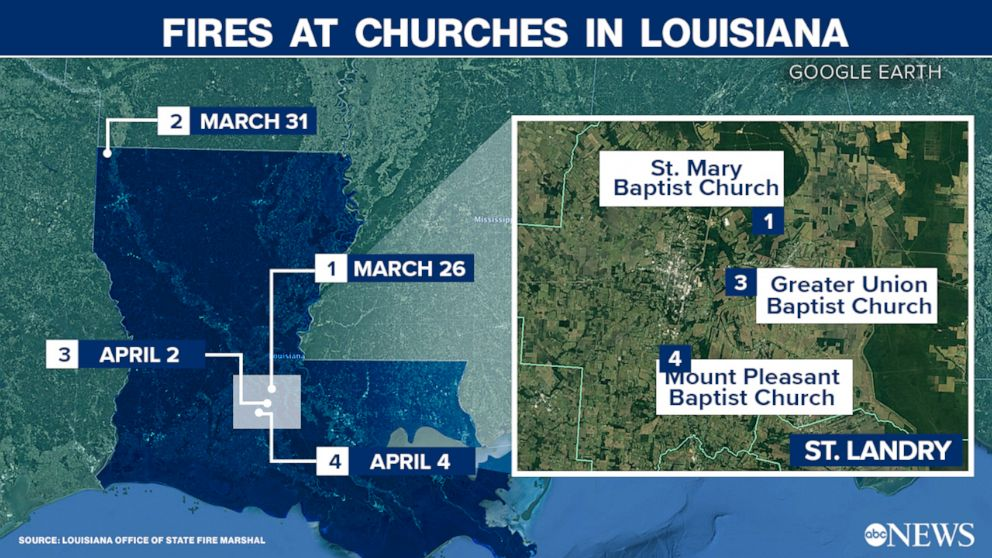 Fires at Churches in Louisiana