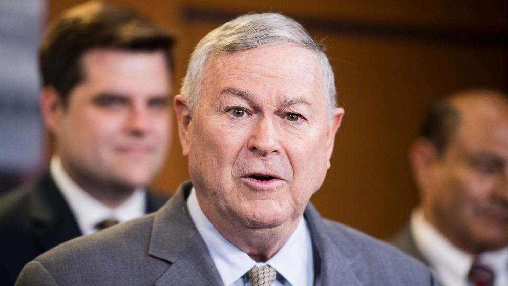 ep. Dana Rohrabacher, R-Calif., participates in a press conference on medical cannabis research reform on April 26, 2018.