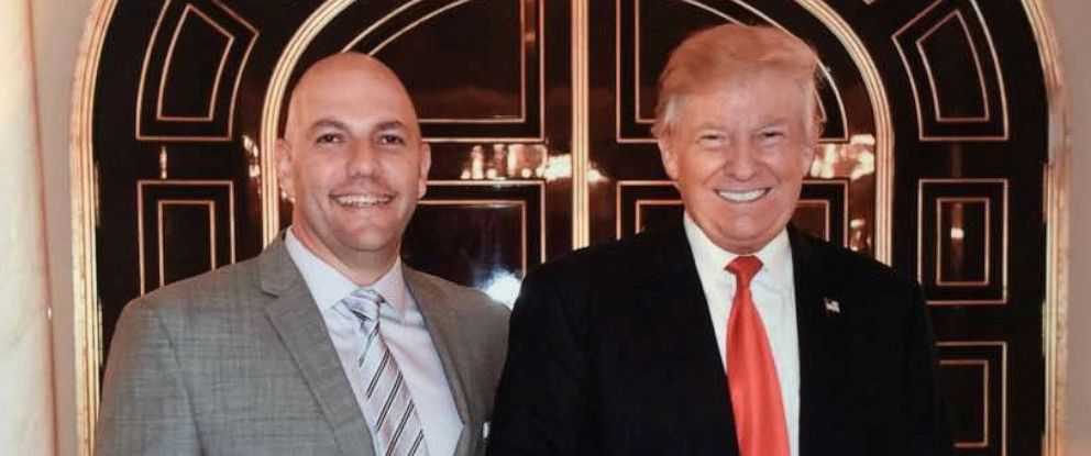 PHOTO: Businessman David Correia appears to pose with President Donald Trump in an undated screen capture from Correias social media account.