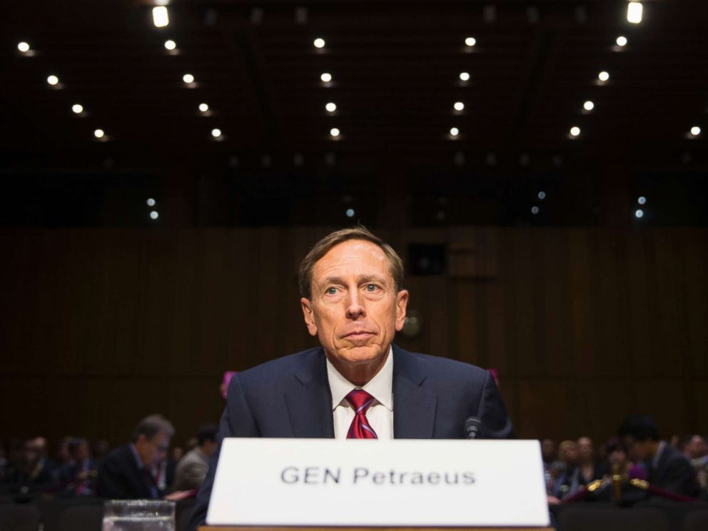 PHOTO: Former CIA Director David Petraeus prepares to testify on Capitol Hill in Washington, Sept. 22, 2015.