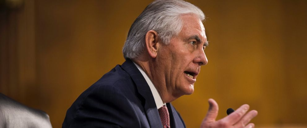 PHOTO: Former CEO of Exxon Mobile and Donald Trumps nominee for Secretary of State Rex Tillerson testifies at his nomination hearing before the Senate Foreign Relations Committee in the Dirksen Senate Office Building in Washington on Jan. 11, 2017.