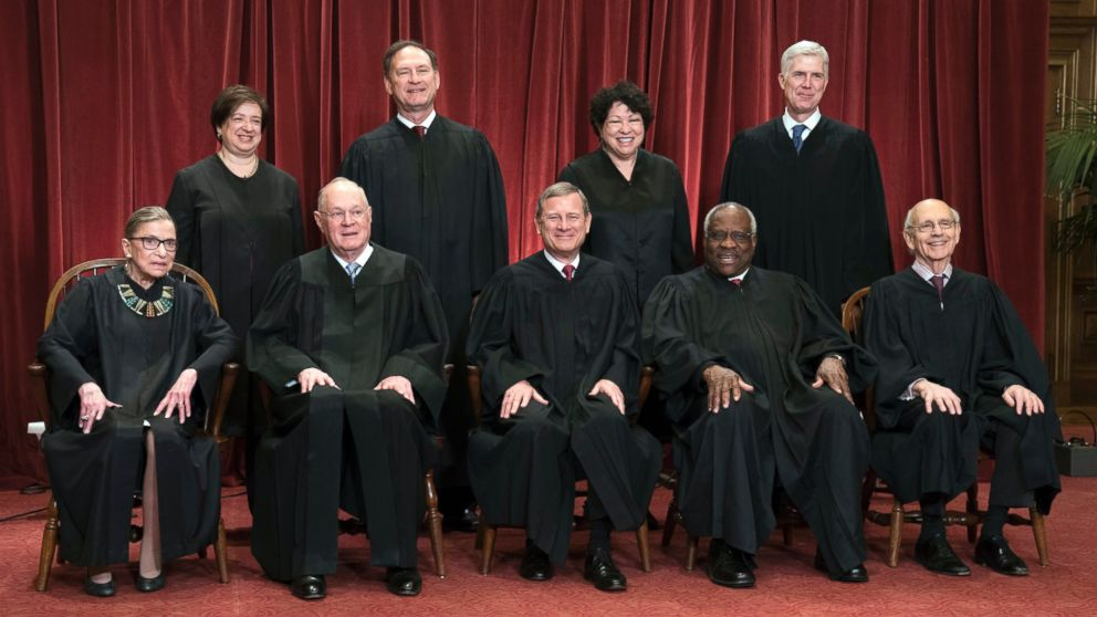 Image result for Picture of our current Supreme Court
