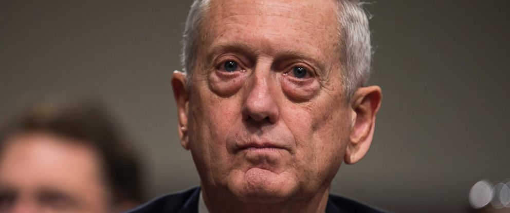 PHOTO: Retired United States Marine Corps general and Donald Trumps nominee for Secretary of Defense James Mattis prepares to testify at his confirmation hearing before the Senate Armed Services Committee in Washington, Jan. 12, 2017.
