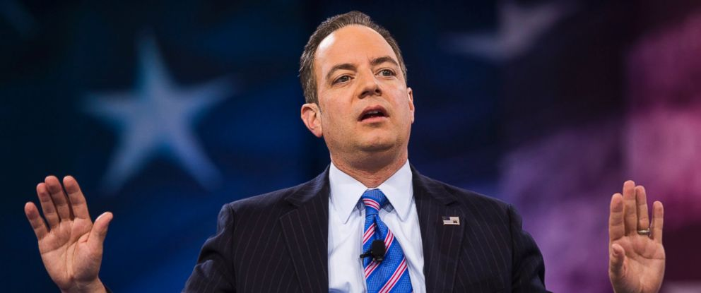 PHOTO: Chairman of the Republican National Committee Reince Priebus speaks at the 43rd Annual Conservative Political Action Conference (CPAC) in National Harbor, Maryland, March 4, 2016.