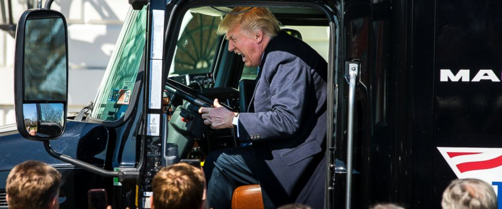 Image result for PHOTO ANGRY TRUMP DRIVING TRUCK