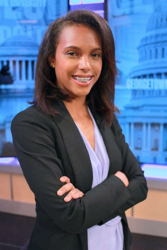PHOTO: Elizabeth Thomas, above, is a graduating masters student at Georgetown University studying journalism.