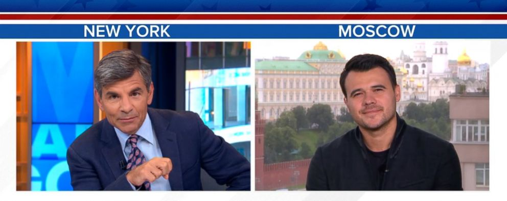 PHOTO: George Stephanopoulos interviewed Emin Agalarov, who helped arrange a key meeting at Trump Tower between high-ranking members of the Trump campaign and Russians.