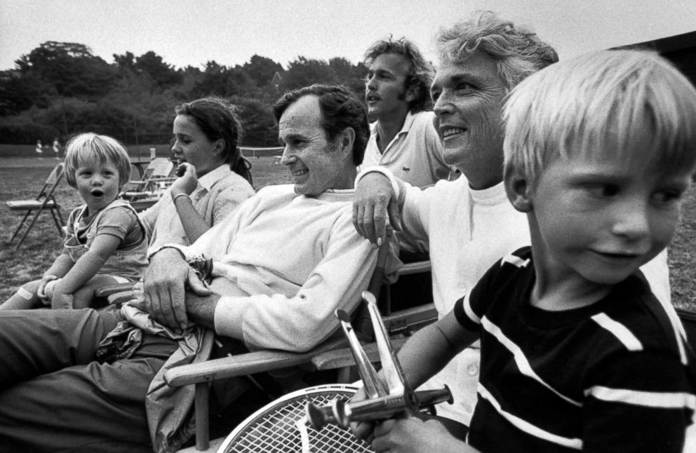 PHOTO: Ambassador George Bush enjoys time with his family.