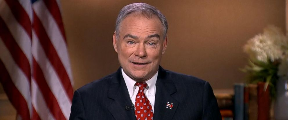 "PHOTO: Tim Kaine appeared on ""Good Morning America,"" Sept. 1, 2016."