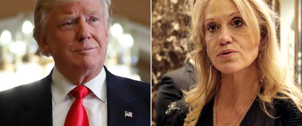 PHOTO: (L-R) President-elect Donald Trump on Capitol Hill, Nov. 10, 2016 and Kellyanne Conway in New York City, Nov. 12, 2016.