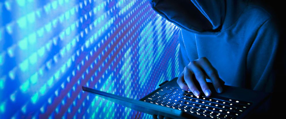 PHOTO: Faceless hacker on a computer in this undated stock photo.