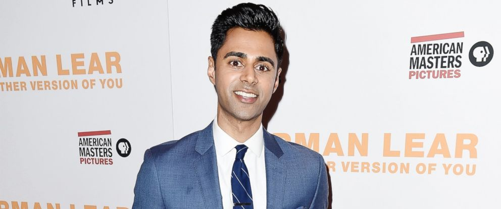 "PHOTO: Actor/comedian Hasan Minhaj attends ""Norman Lear Just Another Version Of You"" New York Premiere at Walter Reade Theater, July 7, 2016, in New York."